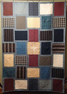 Finished Memory Quilts from my grandparents clothes | Family ... : memorial quilt patterns - Adamdwight.com