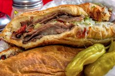 Warm up with a hot Roast Beef submarine sandwich at #PizzaManDans