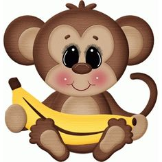 Silhouette Design Store: gone bananas monkey holding banana