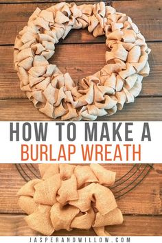 Learn how to make this easy DIY burlap wreath with step by step tutorial. The perfect easy DIY home decor idea for your front door or mantel. Keep reading to lean how to make your own burlap wreath with southern charm to display during Fall or give as a Burlap Ribbon Wreaths, Easy Burlap Wreath, Burlap Wreath Tutorial, Diy Fall Wreath, Door Wreaths, Fall Burlap Wreaths For Front Door, Tulle Wreath, Winter Wreaths, Floral Wreaths
