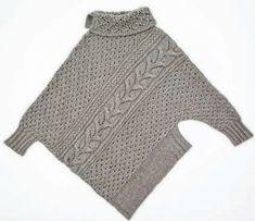 Vogue KnittinG Tutorial for Crochet, Knitting, Crafts. Vogue Knitting, Knitting Yarn, Hand Knitting, Poncho Cape, Poncho Sweater, Pull Torsadé, Knitting Patterns, Knit Fashion, Yarns