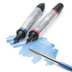 Look at how easily these NEW Winsor & Newton Water Colour Markers blend! We love them!! Real watercolour paint in a pen!