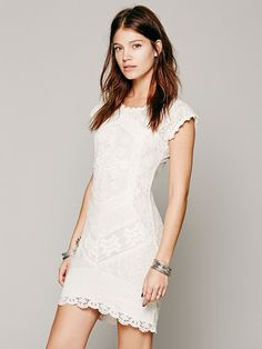 Stunning, delicate, Beverly Crochet Dress available at Free People Clothing Boutique. So pretty.