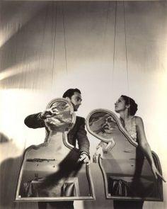 Gala and Salvador Dalí on a dramatized scene.