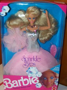 This was my all time fave Barbie- 1992 Sparkle Eyes Barbie Blonde
