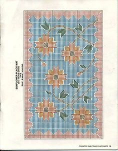 Country Quilt Rag Place Mats~ Sunflower * 14/14