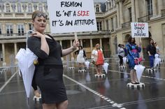 French fashion designer Jean-Marc Philippe presents a plus-size collection in Paris. Photo: Bertrand Guay/Getty Images- BRAVO! these fashion designers need to cater to all sizes!
