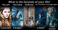 What is the fairytale of your life? Your Life, Quizzes, Fairy Tales, Adventure, Dwarf, Elf, Movie Posters, Appointments, Purple