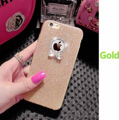 2017 Best Gold iPhone 8 7 6S And 6 Plus 5S SE Case Cover With Dazzling Diamond IPS623 | Cheap Cell-phone Case With Keyboard For Sale