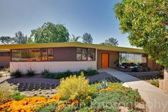 Hmmm... can you tell what's on my mind lately? Exterior paint!  Love the accent color on the fascia board!! - Pasadena Mid-Century Modern midcentury exterior