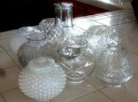 Look for these globe lights, easily found at thrift shops and turn them into outdoor solar lights!