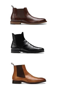 <p><b>The Chelsea Checklist</b></p><p>Whether they're black leather, brown leather, or chocolate suede, your Chelsea boots should always have three things: elastic panels, sturdy heels, and—once you start wearing them, anyway—a few good scuff marks. <p><em>From top: Banana Republic, $168_Ralph Lauren, $750_Tommy Hilfiger, $329</em></p>