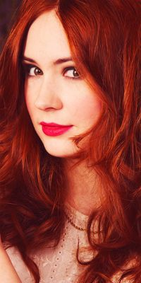 """Karen Gillan. I have a huge weakness for redheads... She almost makes me """"swoon."""""""