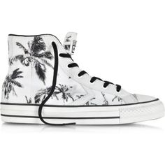 Converse Limited Edition Shoes Star Player Ev High Top Optical White Black  Palms Printed Canvas and Leather Sneaker b36dfe77a