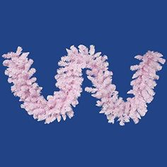 Felices Pascuas Collection 9' x 14 inch Flocked Cupcake Pink Artificial Christmas Garland - Unlit