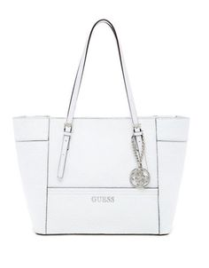 Guess Delaney Small Classic Tote White One Size