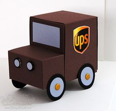 How cute is this to fill with treats for the UPS driver??