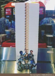 X-men popcorn cup in movie theatre