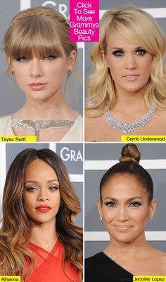 Grammy Beauty 2013 — Taylor Swift, Jennifer Lopez, Rihanna & More