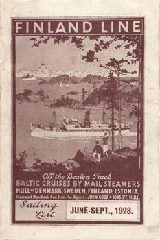 Ad Sailings June - September 1928