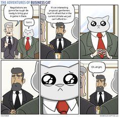 The Adventures of Business Cat — (via Business Cat - Negotiations)