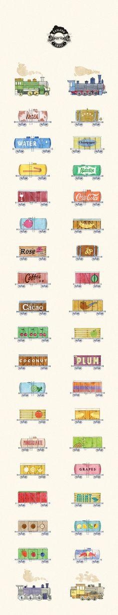 Hookah card for restaurant White Rabbit by Province design-studio , via Behance