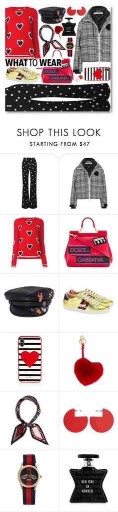 """What to wear: funny sweater"" by alexa-girl2 ❤ liked on Polyvore featuring Monse, Off-White, Isabel Marant, Dolce&Gabbana, Dsquared2, Gucci, Kate Spade, Anya Hindmarch, Henri Bendel and Bond No. 9"