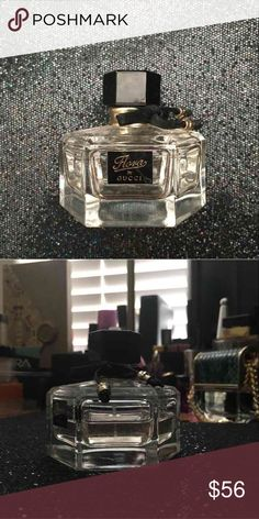 Flora by Gucci perfume 1.6 ounces EDT Usage shown in pictures   Sephora / YSL / chanel / la mer / Nordstrom / Neiman marcus / Giorgio Armani / Charlotte tilbury / high end / make up / lancome / lancôme  Tags: NARS, kat Von D, Anastasia Beverly Hills, Sephora Search my username on m/ercari Gucci Other
