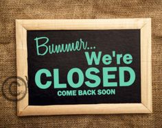 open and closed signs – Etsy