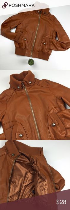 Caramel Brown Rib Jacket This trendy rib jacket is must have this season to pair with your skinny jeans. Size: M. Polycotton and fully lined. Functional pockets and buttons details to add edginess. It will keep you warm on chilly nights. Fairly new. I used once, I used more coats than jacket. Shelly Jackets & Coats Utility Jackets