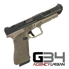 Another Sweet Agency Arms Glock coming your way in an Urban Cut with Black Nitride Top and FDE bottom. Tomorrow will be an amazing day for one of our agents as he unboxes this Beautiful Beast! Weapons Guns, Guns And Ammo, M&p 9mm, Revolvers, Glock Mods, Agency Arms, Hidden Gun, Assault Weapon, Tactical Gear