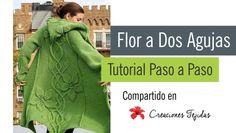 #T54 Tutorial Paso a Paso: Flor de Dos Agujas ~ Creaciones Tejidas