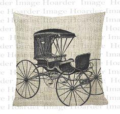 Buggy Digital Download Burlap Fabric Transfer  Text Iron On Pillows Totes Tea Towels autoDigital Clip Art. %s%.99, via Etsy.