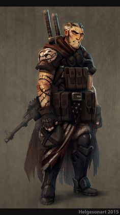 Post-Apocalyptic Survivor by Johannes Helgeson on ArtStation. Apocalypse World, Post Apocalypse, Character Concept, Character Art, Concept Art, Armor Concept, Character Ideas, Larp, Dungeons And Dragons