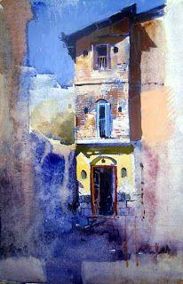 milind mulick paintings: Column house at millindmuick.blogspot.com