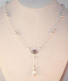 Swarovski Pearl & Crystal Bridal Jewelry Set - Bride Bridesmaid Maid of Honor - Any Color - SHIPS WITHIN 24 HRS. $45.00, via Etsy.