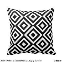 Carreau géométrique noir et blanc (double face)