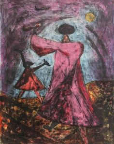 Artwork by Rufino Tamayo, Two Women, Made of lithograph