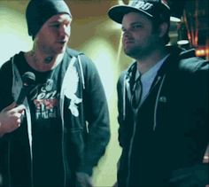 Hollywood Undead, Charlie Scene, Johnny 3 Tears make such a cute couple! Ship it for days.