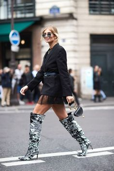 glitter shoes street style