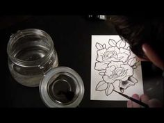 Spit Shading Lesson - Tutorial & Speed Drawing of Tattoo Flash Roses - YouTube