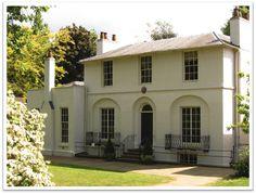 Keats house at Hampstead Heath.  Keats Grove, where poet John Keats lived from 1818 to 1820.  London, England