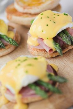 Eggs Benedict with Ham and Asparagus for Mother's Day Brunch!