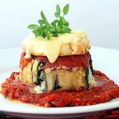 Eggplant and Zucchini Parmesan - Love the Presentation!!