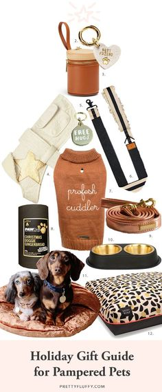 The ultimate holiday gift guide for pampered pets - the best stocking stuffers dog treats toys and accessories to spoil your dog this holiday season. Dog Enrichment, Dog Clothes Patterns, Sewing Patterns, Best Stocking Stuffers, Pet Grooming, Dog Supplies, Holiday Gift Guide, Dog Care, Dog Toys