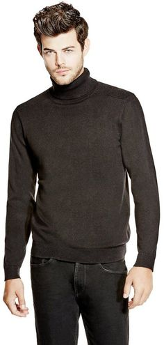 Best Turtleneck Shirt Ideas For Men Look More Handsome Mens Turtleneck, Long Sleeve Turtleneck, Men Sweater, Warm Clothes For Men, Polo Neck, Warm Outfits, All About Fashion, Men Looks, Cotton Sweater
