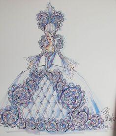 Madame du Barbie Illustration by Bob Mackie