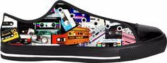 Mixtape Low Top Sneakers 1980's Cassette Tapes Music Hip Hop Vintage Old School Accessories Style Wear Street Japan Rap 1990's Nostalgia Radio MP3 Accessories Punk Rock Alternative