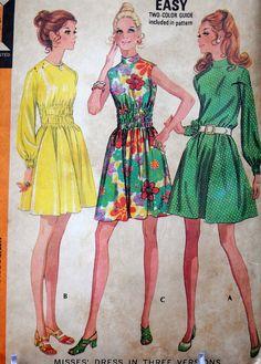 McCall's 2386  Sweet A-Line Dress or Sundress  MOD  by Clutterina