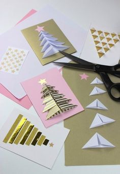 Weihnachtskarten selbst basteln - Anleitung-dekoking-com-5